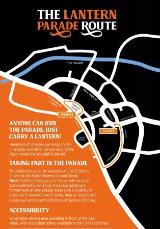 Lantern Parade map