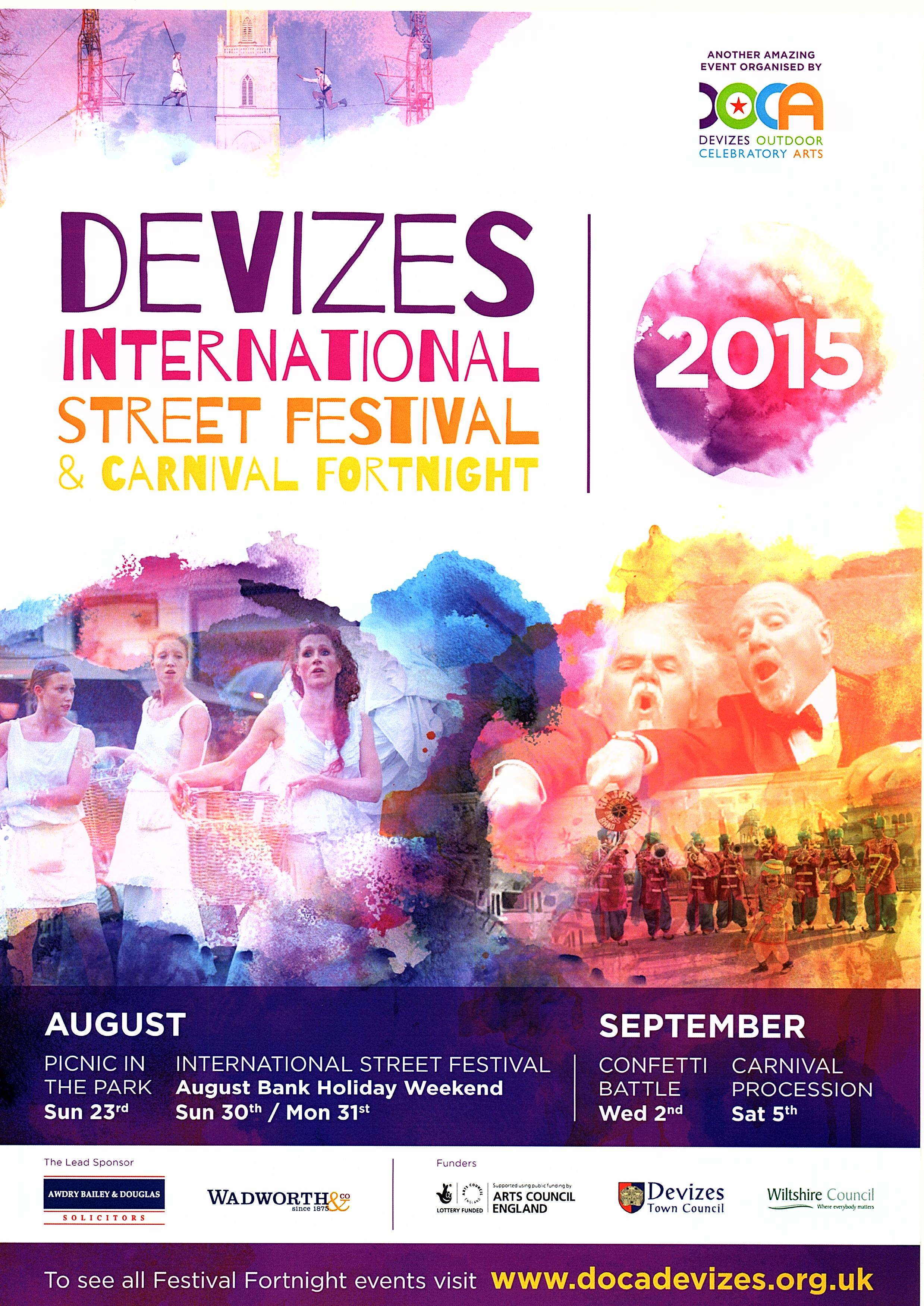 2015 Street Festival programme