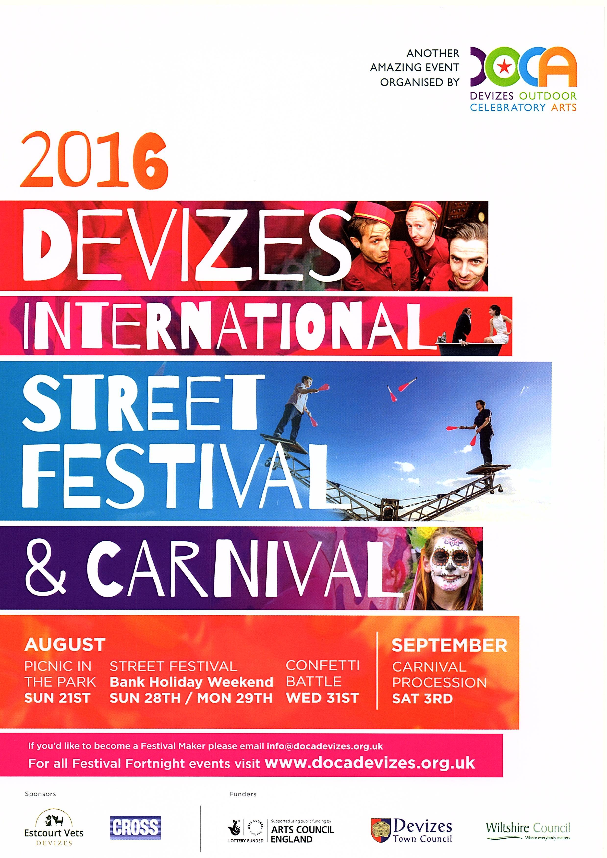 2016 Street Festival programme